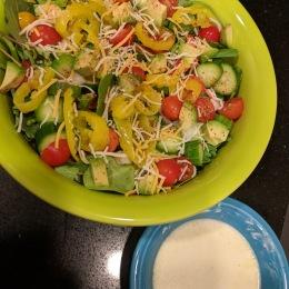 My twist on a creamy taco salad
