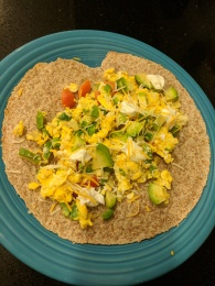 Sprouted grain tortilla w/ Southwest scramble